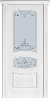 Двери Терминус Модель 50 Каро ясень белый эмаль со стеклом 03