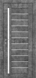 Межкомнатные двери Modern Bianca Родос серый мрамор полустекло