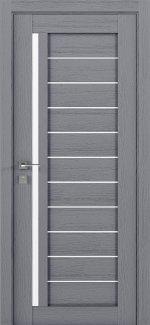 Межкомнатные двери Modern Bianca Родос каштан серый полустекло