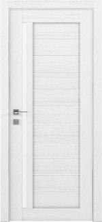 Межкомнатные двери Modern Bianca Родос каштан белый полустекло