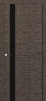 Межкомнатные двери Modern Flat Родос графит полустекло черное Триплекс
