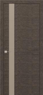 Межкомнатные двери Modern Flat Родос графит полустекло латте Триплекс