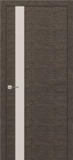 Межкомнатные двери Modern Flat Родос графит полустекло белое Триплекс