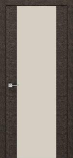 Межкомнатные двери Modern Flat Родос графит со стеклом латте Триплекс