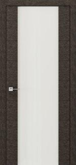 Межкомнатные двери Modern Flat Родос графит с белым стеклом Триплекс
