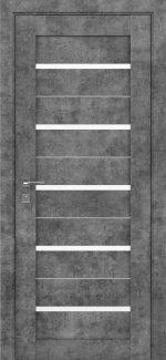 Межкомнатные двери Modern Lazio Родос серый мрамор полустекло