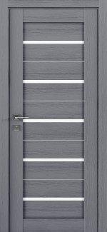 Межкомнатные двери Modern Lazio Родос каштан серый полустекло