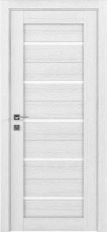 Межкомнатные двери Modern Lazio Родос каштан білий напівскло