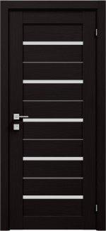 Межкомнатные двери Modern Lazio Родос венге шоколадный полустекло