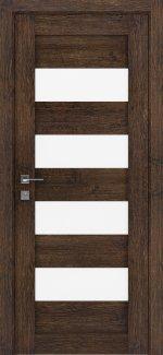 Межкомнатные двери Modern Milano Родос акация темная полустекло