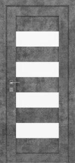 Межкомнатные двери Modern Milano Родос серый мрамор полустекло