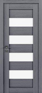 Межкомнатные двери Modern Milano Родос каштан серый полустекло