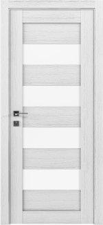 Межкомнатные двери Modern Milano Родос каштан белый полустекло