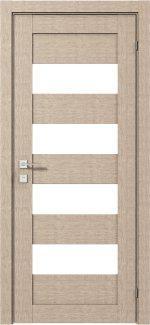 Межкомнатные двери Двері Modern Milano Родос крем напівскло