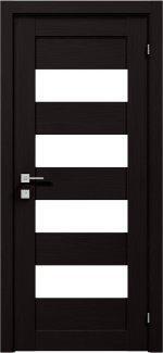 Межкомнатные двери Двері Modern Milano Родос венге шоколадний напівскло