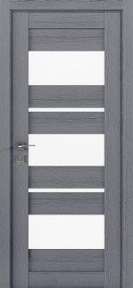 Межкомнатные двери Modern Polo Родос каштан серый со стеклом