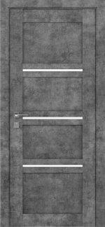 Межкомнатные двери Modern Quadro Родос серый мрамор полустекло