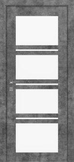 Межкомнатные двери Modern Quadro Родос серый мрамор со стеклом