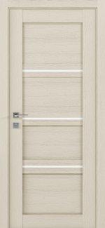 Межкомнатные двери Modern Quadro Родос каштан беж полустекло