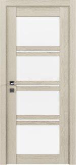 Межкомнатные двери Modern Quadro Родос каштан беж со стеклом