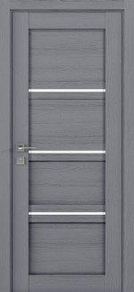Межкомнатные двери Modern Quadro Родос каштан серый полустекло