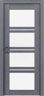 Межкомнатные двери Modern Quadro Родос каштан серый со стеклом