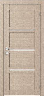 Межкомнатные двери Modern Quadro Родос крем полустекло