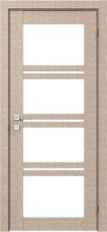 Межкомнатные двери Modern Quadro Родос крем со стеклом