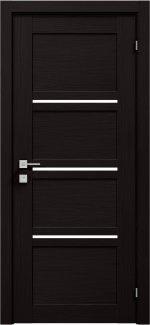 Межкомнатные двери Modern Quadro Родос венге шоколадный полустекло