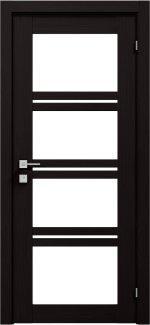 Межкомнатные двери Modern Quadro Родос венге шоколадный со стеклом