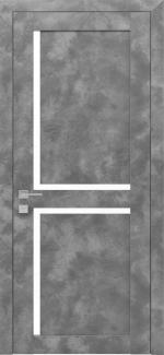 Межкомнатные двери Modern Scandi Родос серый мрамор полустекло