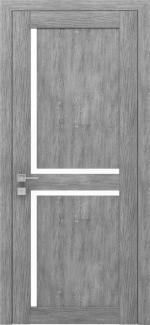 Межкомнатные двери Двери Modern Scandi Родос каштан серый полустекло