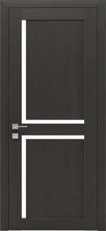 Межкомнатные двери Modern Scandi Родос сосна браш браун полустекло