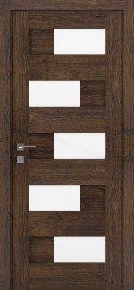 Межкомнатные двери Modern Verona Родос акация темная полустекло