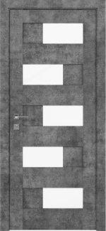 Межкомнатные двери Modern Verona Родос серый мрамор полустекло