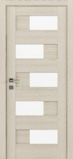 Межкомнатные двери Modern Verona Родос каштан беж полустекло