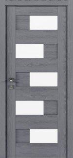 Межкомнатные двери Modern Verona Родос каштан серый полустекло
