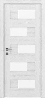 Межкомнатные двери Modern Verona Родос каштан белый полустекло
