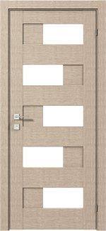 Межкомнатные двери Modern Verona Родос крем полустекло