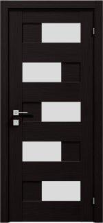 Межкомнатные двери Modern Verona Родос венге шоколадный полустекло