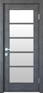 Межкомнатные двери Муза Новый Стиль грей делюкс New стекло Сатин