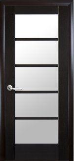 Двери Муза Новый Стиль венге Делюкс со стеклом Сатин