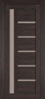 Межкомнатные двери Модель 108 NanoFLEX Термінус трюфель зі склом