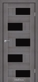 Межкомнатные двери Двери Nepal StilDoors дрим вуд стекло черное
