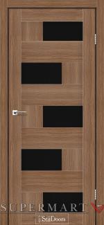 Межкомнатные двери Двери Nepal StilDoors итальянский орех стекло черное