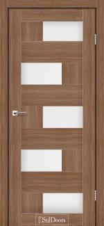 Межкомнатные двери Двери Nepal StilDoors итальянский орех стекло сатин