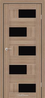 Межкомнатные двери Двери Nepal StilDoors ольха классическая стекло черное