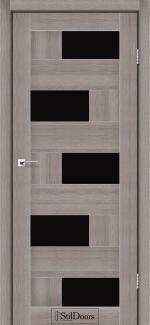 Межкомнатные двери Двери Nepal StilDoors трюфель стекло черное