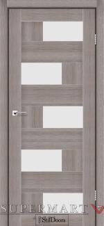 Межкомнатные двери Двери Nepal StilDoors трюфель стекло сатин