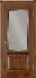 Межкомнатные двери Двері Модель 04 Термінус дуб браун зі склом